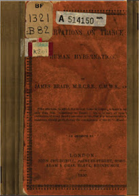 Cover of James Braid's Book Observations On Trance or Human Hybernation