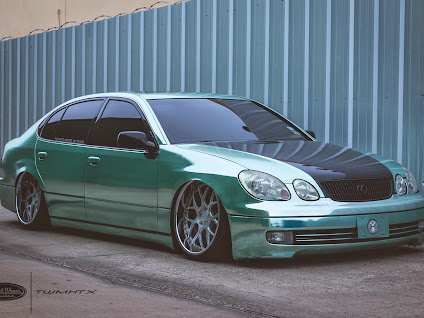 Bagged lexus gs 300 with tiffany chrome vehicle wrap at twmhtx photo photo photo sciox Images