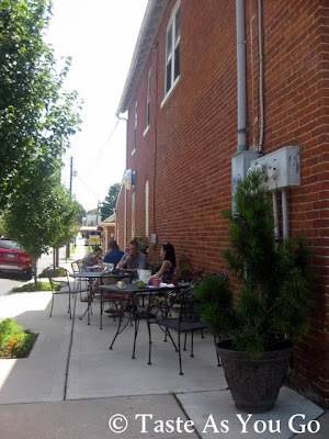 Outdoor Seating at Jumbars in Bethlehem, PA - Photo by Michelle Judd of Taste As You Go