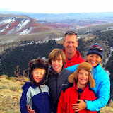 Shelli, with her family, near their cabin in the mountains.