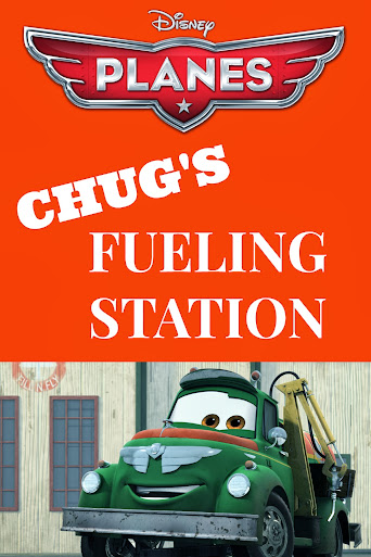 Disney Planes Party Ideas: Chug's Fueling Station Sign - Free #Printable #DisneyPlanes