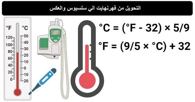 حاسبة تحويل الحرارة من سلسيوس الي فهرنهايت | محول درجة الحرارة المئوية