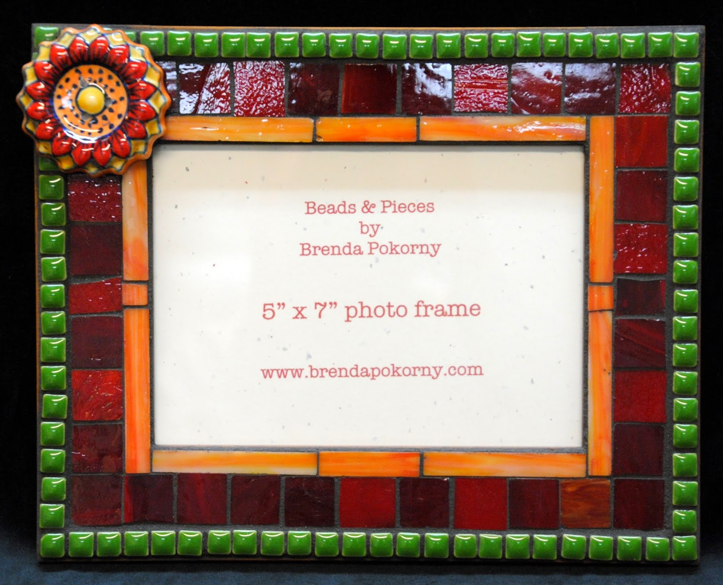 Fall Flower Garden Mosaic Photo Frame MOF1416