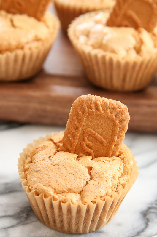 photo of one cookie butter muffin