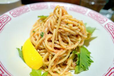 Mentaiko Spaghetti at Noraneko, a special only on Saturdays