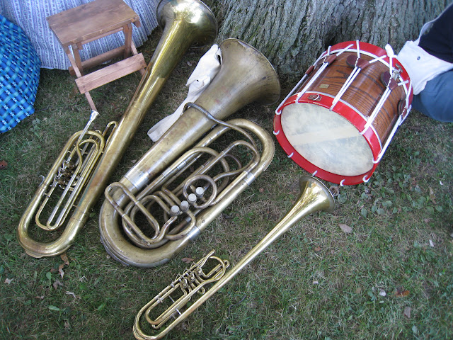 A few of the band's instruments