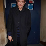 WWW.ENTSIMAGES.COM -      Mathew Horne        sighted leaving Trafalgar Studio London October 25th 2013                                              Photo Mobis Photos/OIC 0203 174 1069