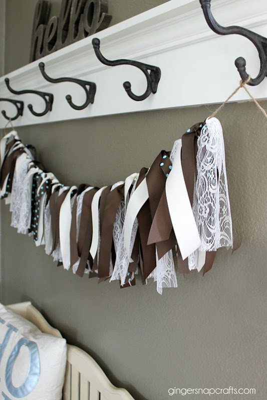 ribbon garland tutorial