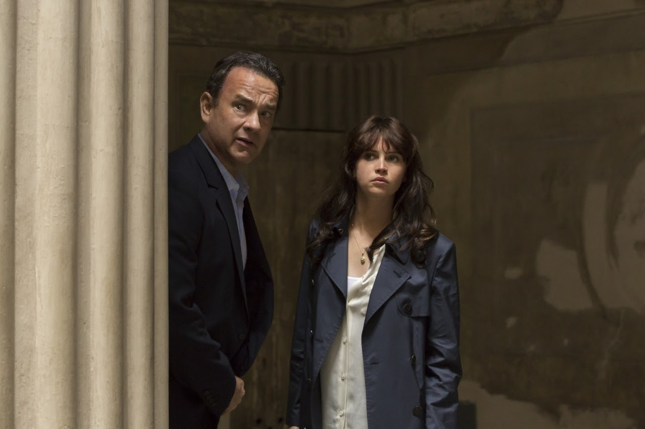 Tom Hanks and Felicity Jones in INFERNO. (Photo by Jonathan Prime / courtesy of Columbia PIctures).