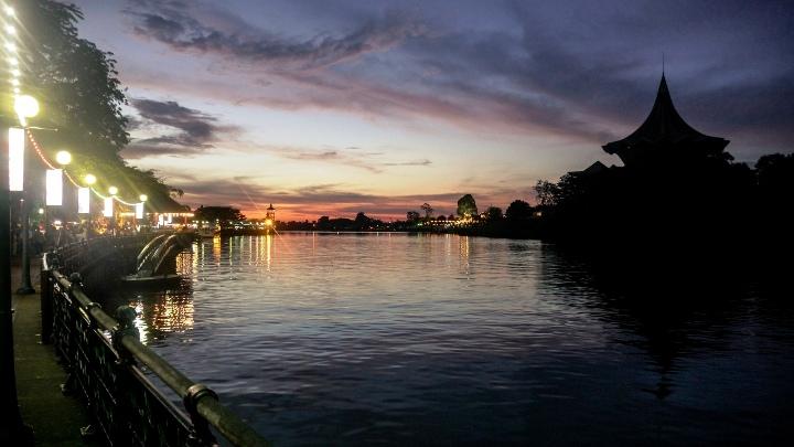 Sunset on Kuching River