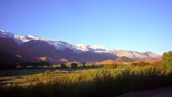 Vallée Heureuse neige aux sommets