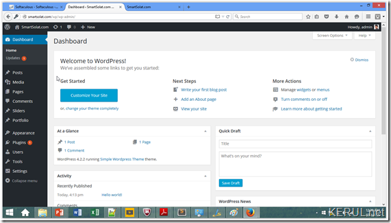 wordpress-admin-site