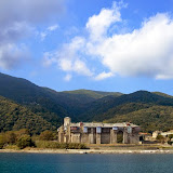 25. Holy Monastery of Iviron. Established between 980-983 AD. View from the seaside