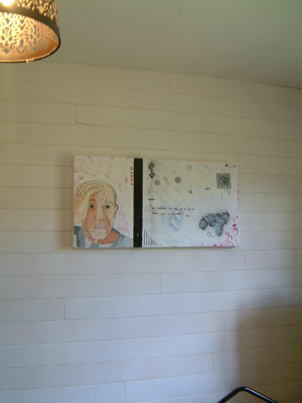 Peinturecarole technique de peinture acrylique collage - Peinture sur enduit gratte ...