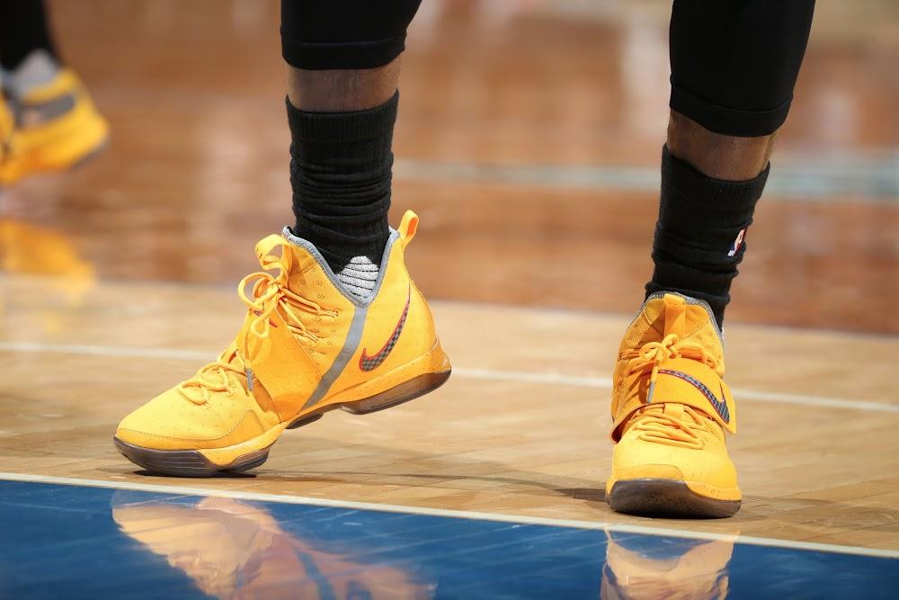 7049218bad0 King James Sports Bright Yellow Nike LeBron 14 PE –  13