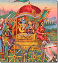[Krishna taking Rukmini]