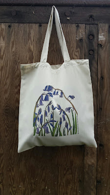 Bluebells - Recycled Tote Bag by Alice Draws The Line