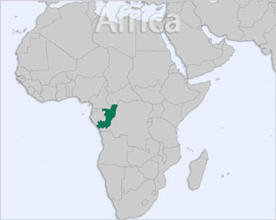 Congo Republic of the location map