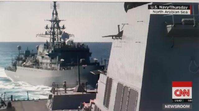 Kapal Perang Rusia Mendadak Kejar Kapal Perusak AS di Laut Arab