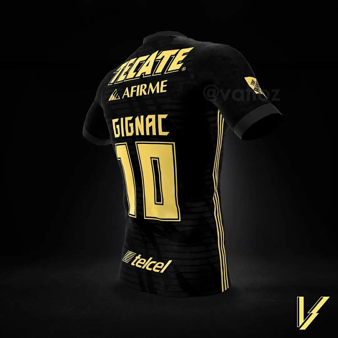 gambar desain jersey Konsep Jersey Tigres Ketiga musim 2020/2021