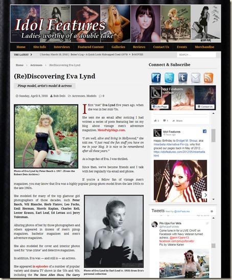 IdolFeatures.com (Re)Discovering Eva Lynd