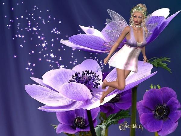 Fairy On A Flower, Fairies Girls