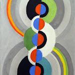Robert Delaunay, Rythme, 1934, Huile sur papier marouflé sur carton