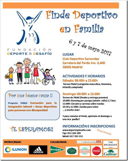 Torneo de Pádel solidario DEPORTE Y DESAFÍO 6 y 7 mayo 2017 en C. D. Somontes.