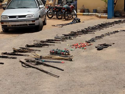 Photo :Bauchi state police command killed three suspected armed robbers during a shootout.
