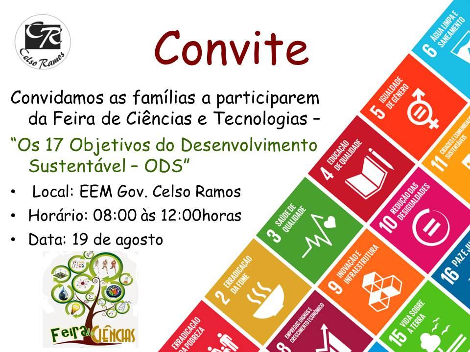 Conhecido Convite Feira de ciências | Escola de Ensino Médio Governador  HV41