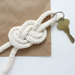 sailor knot keychain