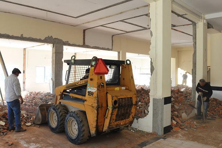 Obras remodelam espaço que vai acolher Call Center da Altice