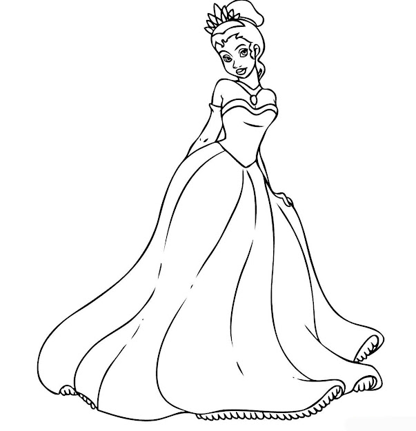 Disney Tiana Hot  Disney Princess Tiana Coloring Pages To Girls