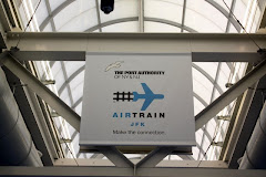 Sign for the Air Train in JFK Airport