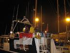 """""""Suva"""", das Boot von Neil Streeter, und unser Zuhause für die nächsten 22 Stunden. - """"Suva"""", Neil Streeter's boat, and our home for the next 22 hours."""