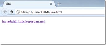 contoh membuat link pada html