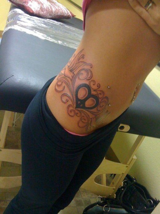 sexy_coraço_e_de_aves_hip_tatuagem