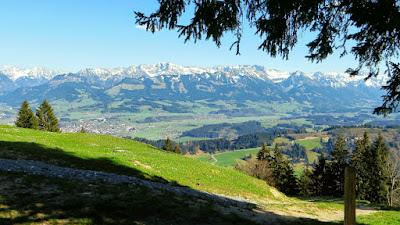 Allgäuer Alpen von Sonthofen bis Oberstdorf über dem Illertal