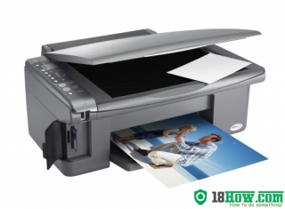 How to reset flashing lights for Epson DX5050 printer