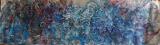 """Série """"A travers l'eau"""" Nuit 2, 70X240, huile/toile"""