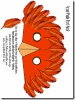 pájaro mascara
