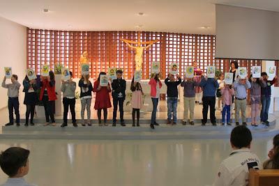 Entrega del Credo a los niños de 4º de Primaria