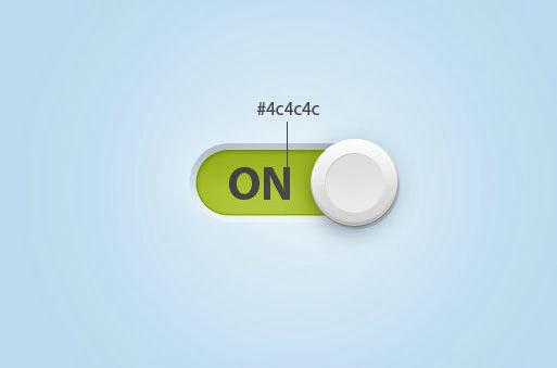 Menambah teks pada tombol toggle switch