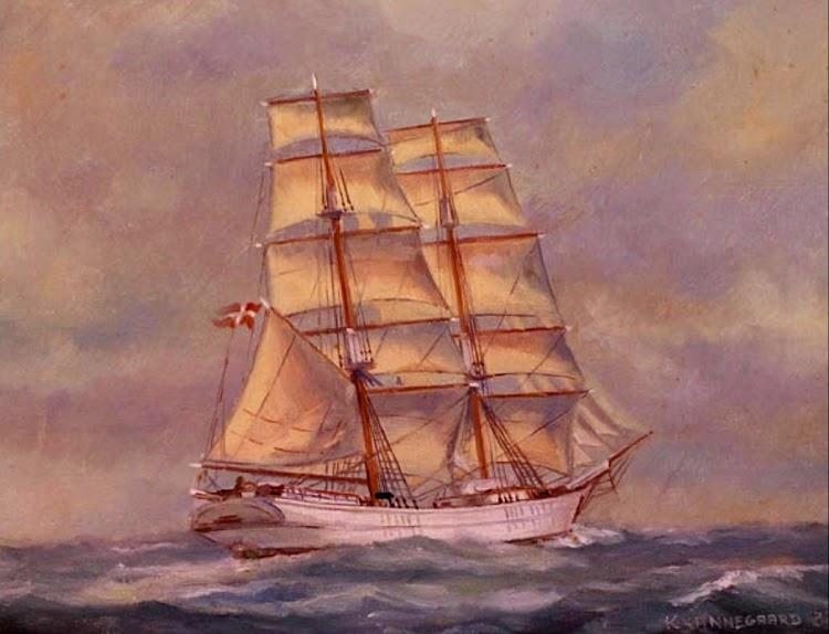 Acuarela de la DORANE navegando con todo el trapo y luciendo un bonito color blanco en el casco. De la web Mitfanoe.dk.tif
