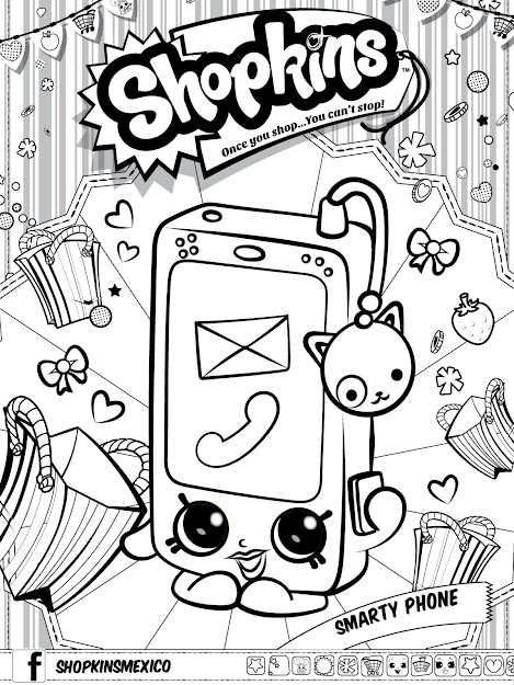 Shopkins Coloring In Pages  Shopkins Coloring In Pages
