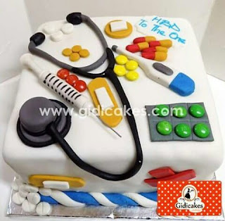 Cake for a medical doctor