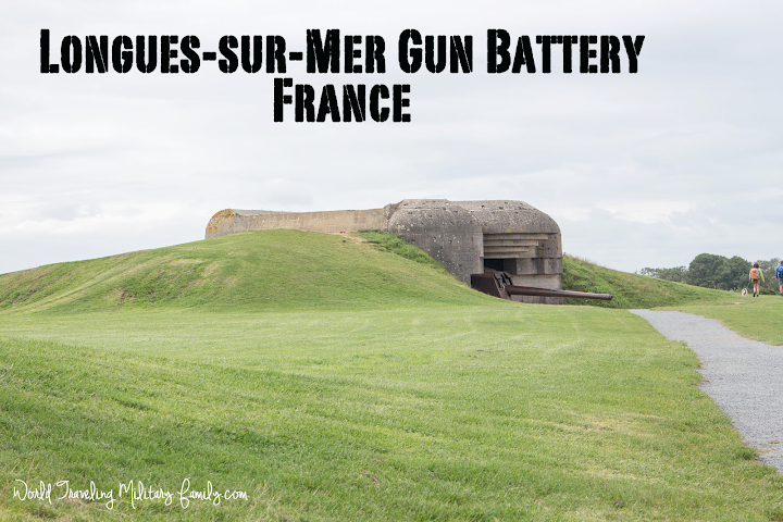 Longues-sur-Mer Gun Battery, which is on the way to the WWII Normandy American Cemetery & Memorial. The Gun Battery is a quick stop and it's free.