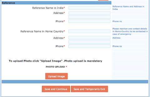 インドの滞在先、個人宅の場合は家主の名前を入力