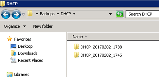 Automatically Backup DHCP Over the Network