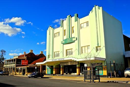 Art Deco Regency theatre and Lawson Park Hotel, Mudgee, Australia